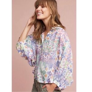 Anthropologie Maeve Brynna Button-down Blouse